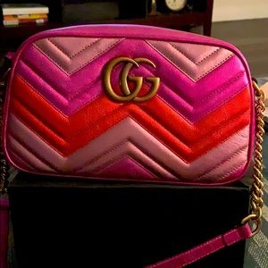 Gucci Marmont metallic shoulder handbag